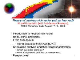 Theory of neutron-rich nuclei and nuclear radii