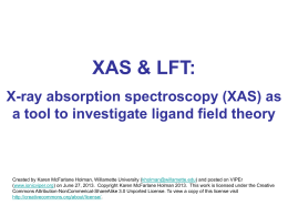 XAS for LFT3