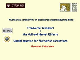 Transverse transport in disordered superconducting films above T_c