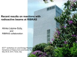 Recent results on reactions with radioactive beams at RIBRAS