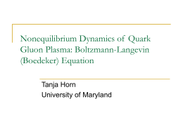 NonequilibriumDynamicsofQuarkGluonPlasma
