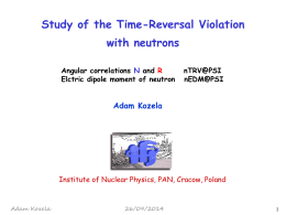 Study of the time reversal violation with neutrons