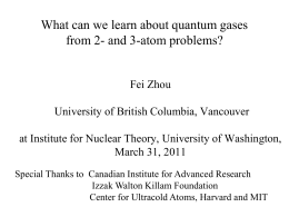 Zhou - Institute for Nuclear Theory
