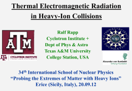 Thermal Electromagnetic Radiation in Heavy