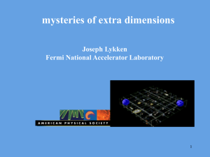 why do physicists think that there are extra dimensions