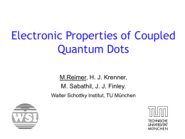 Electronic Properties of Coupled Quantum Dots ()