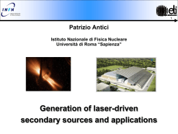 Generation of laser-accelerated ions and secondary sources - ELI-NP