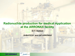 Radionuclide production at ARRONAX
