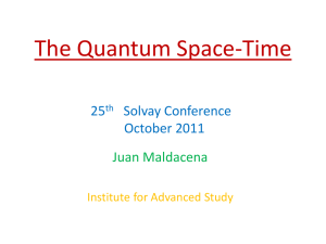 The Quantum Space-Time - Institute for Advanced Study
