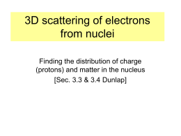 Electron Scattering - Department of Physics, HKU