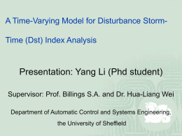 A Time-Varying Model for Disturbance Storm-Time (Dst - care