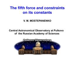3. Constraints on constants of Yukawa-type