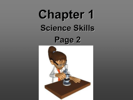 Chapter 1 – Science Skills