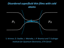 Superfluidity with disorder in a thin film of quantum gas