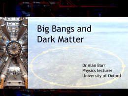 Big Bangs and Dark Matter