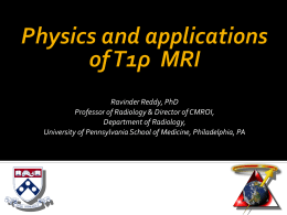 T1rho_physics - Center for Magnetic Resonance and Optical