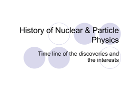 History of Nuclear and Particle Physics