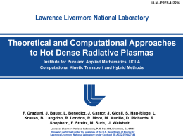 Lawrence Livermore National Laboratory Radiation