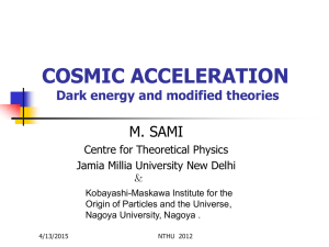 COSMIC ACCELERATION: Dark energy and modified theories