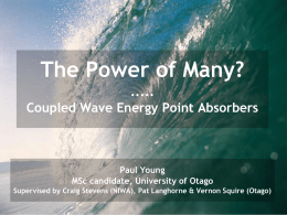wave-energy - University of Otago