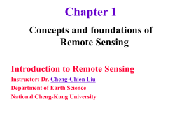 Chapter 1 Concepts and foundations of Remote Sensing
