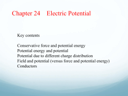 Ch 24 Electric Potential