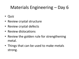 Materials Engineering – Day 6 - Rose