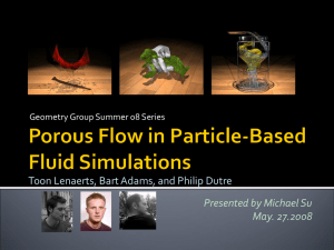 Porous Flow in Particle-Based Fluid Simulations