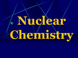 Nuclear Chemistry - Duplin County Schools
