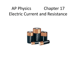 Electric Current & Resistance