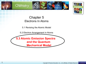 5.3 Atomic Emission Spectra and the Quantum Mechanical Model