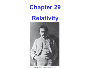 29-1 The Postulates of Special Relativity But with light, our