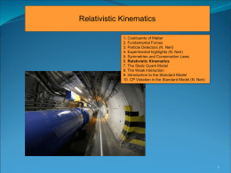 Recalling Relativistic Kinematics Basic Principles