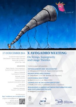 X AVOGADRO MEETING - Scuola Normale Superiore