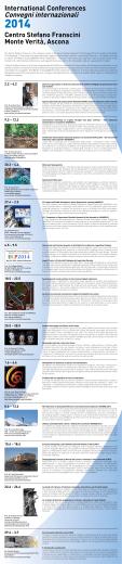 """Calendario Centro Stefano Franscini """"Convegni internazionali 2014"""""""