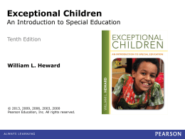 Who Are Exceptional Children?