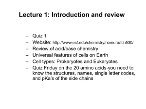 Lecture 1: Introduction and review