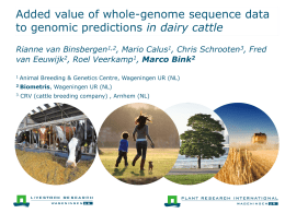 PowerPoint-presentatie - The Genome Analysis Centre