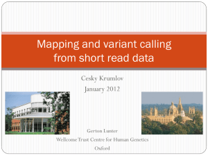Mapping and variant calling from short read data