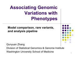 Associating Genomic Variations with Phenotypes
