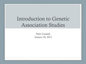 Introduction to Genome-Wide Association Studies