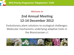 "DFG Priority Programme ""Adaptomics"" - Ruhr"