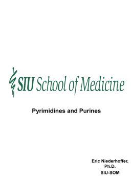 Pyrimidine and purine