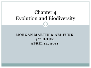 Chapter 4 Evolution and Biodiversity