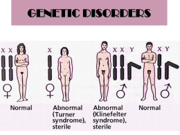 10 GENETIC DISORDERS worksheet ANSWERS