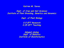 Katrien Devos - Department of Crop and Soil Sciences