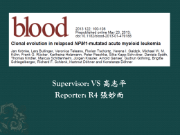 Clonal evolution in relapsed NPM1