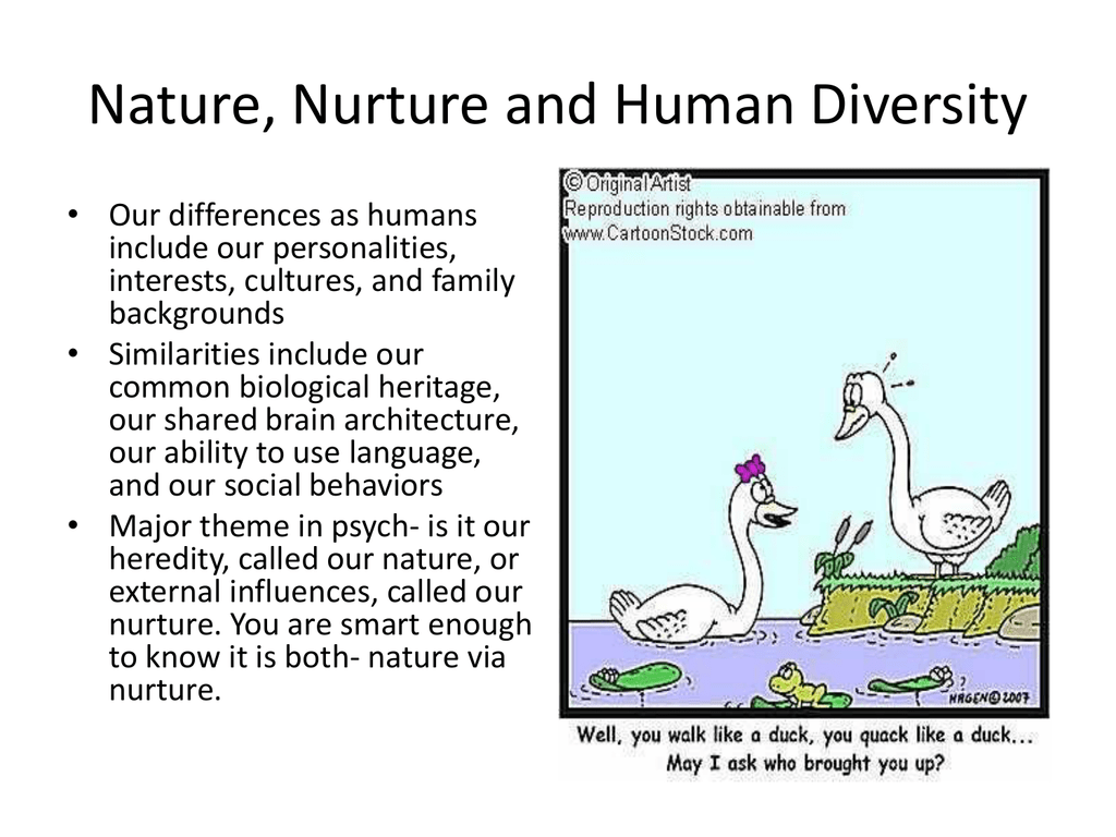 the difference between nature and nurture