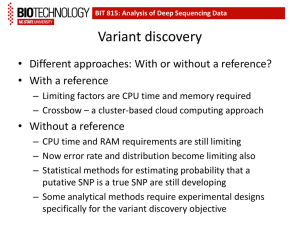 Variant discovery