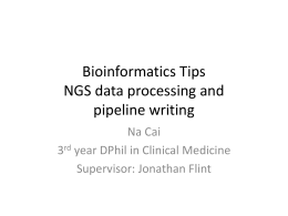 Bioinformatics Tips (NGS data processing)